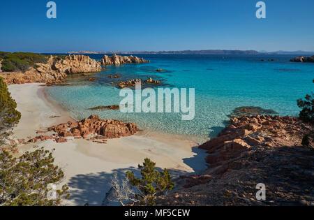 Italy, Sardinia, La Maddalena, Arcipelago di La Maddalena National Park, Spiaggia Budelli - Stock Photo
