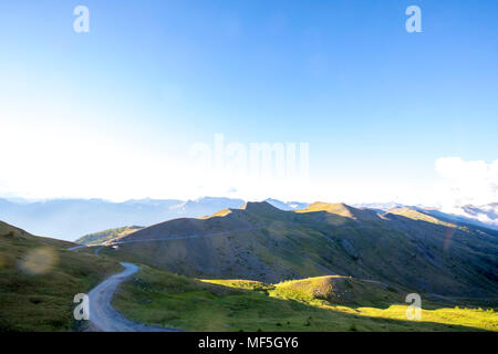Italy, Piemont, West Alps, Colle dell'Assietta, Colle di Sestriere, Aerial view - Stock Photo