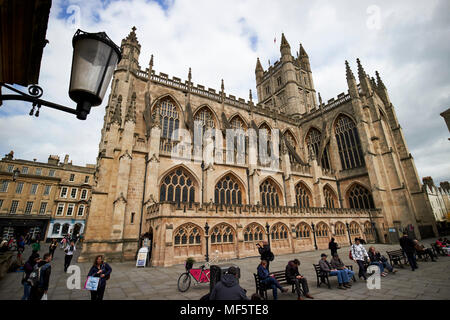 The abbey church of saint peter and saint paul known as Bath Abbey or Bath Cathedral Bath Somerset England UK - Stock Photo