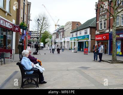 Staines upon Thames Town Centre  Surrey Uk - Stock Photo