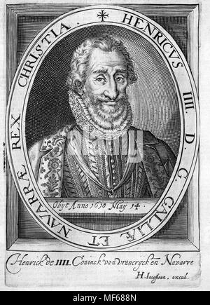 HENRY III OF FRANCE (1551-1589) lasy French monarch of the House of Valois - Stock Photo