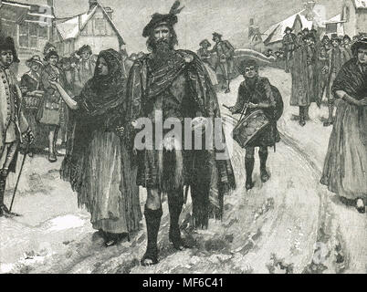 Prince Charles' Vanguard, at Manchester, The Jacobite rising of 1745 - Stock Photo