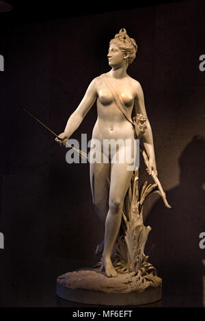 Diana 1780 by Jean Antoine Houdon 1741 - 1828 France French  ( Diana was the goddess of the hunt, the moon, and nature in Roman mythology ) - Stock Photo