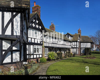 Tudor-styled property at Port Sunlight - Stock Photo