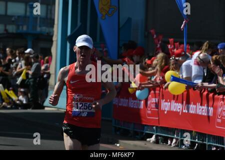 Virgin Money, London Marathon 2018 - Stock Photo