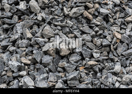 Stone, gravel at construction site in Addis Ababa, Ethiopia - Stock Photo