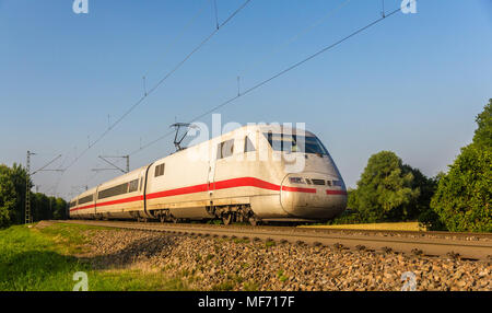 Intercity Express train in Offenburg, Germany - Stock Photo