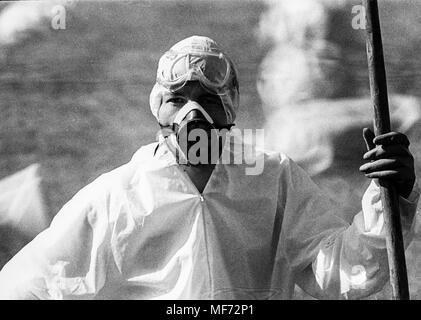seveso, ecological disaster after the explosion chemistry plant, 1976 - Stock Photo