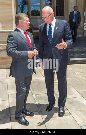Their Majesties King Abdullah II bin Al-Hussein and Queen Rania Al-Abdullah of Jordan at Government House in Sydney as part of the Royal visit to Australia in November 2016. Pictured: King Abdullah II bin Al-Hussein of Jordan. - Stock Photo
