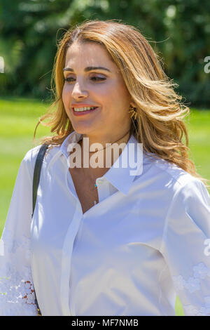 Their Majesties King Abdullah II bin Al-Hussein and Queen Rania Al-Abdullah of Jordan at Government House in Sydney as part of the Royal visit to Australia in November 2016. Pictured: Queen Rania Al-Abdullah. - Stock Photo
