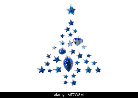christmas tree made of toys - Stock Photo