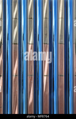 Evacuated Thermal Glass Tube Solar Collector - Stock Photo