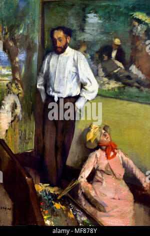 Portrait of Henri Michel Lévy  (1878) by  Edgar Degas 1834-1917 France French - Stock Photo