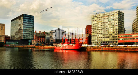 Planet lightship in Canning Dock, Liverpool - Stock Photo