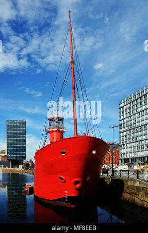 Liverpool's old Bar Lightship - Planet - Stock Photo