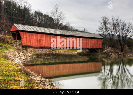 The Milton Covered Bridge in West Virginia - Stock Photo