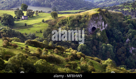 Thor's Cave in morning light - Stock Photo