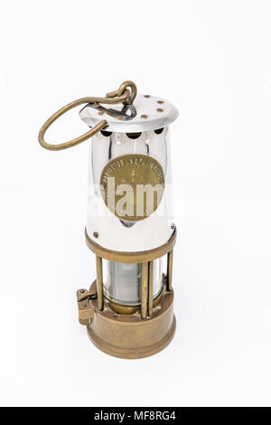The Davy lamp is a safety lamp for use in flammable atmospheres. - Stock Photo