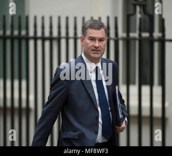 Downing Street, London, UK. 24 April 2018. David Gauke, Secretary of State for Justice, Lord Chancellor in Downing Street for weekly cabinet meeting. Credit: Malcolm Park/Alamy Live News. - Stock Photo