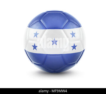 High qualitiy rendering of a soccer ball with the flag of Honduras.(series) - Stock Photo
