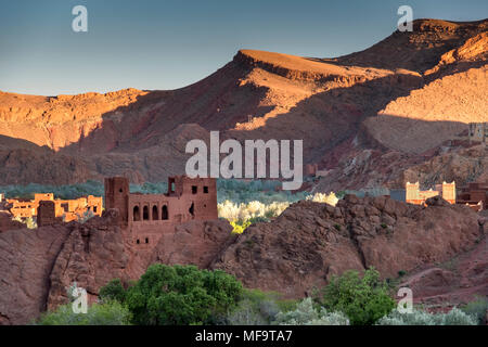 Abandoned Kasbah in the spectacular Dades Valley, Morocco - Stock Photo