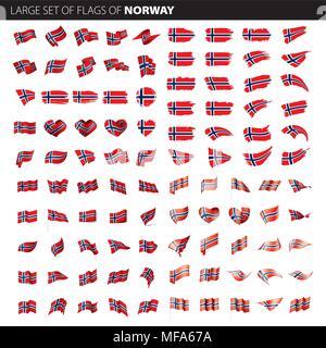 Norway flag, vector illustration - Stock Photo
