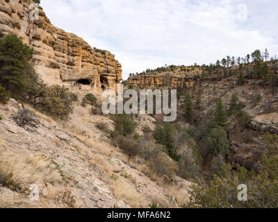 Gila Cliff Dwellings National Monument, Silver City, New Mexico - Stock Photo