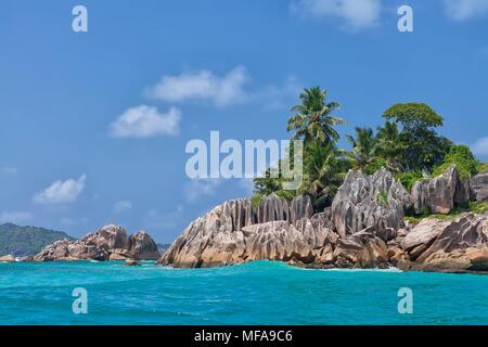 Beautiful tropical St. Pierre Island, Seychelles - Stock Photo