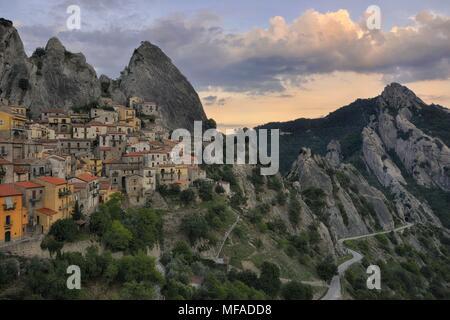 castelmezzano, dolomiti lucane, basilicata, italy - Stock Photo