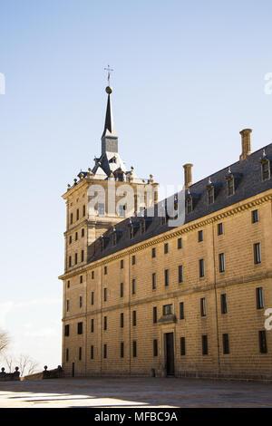 Royal Monastery of San Lorenzo de El Escorial, Madrid, Spain - Stock Photo