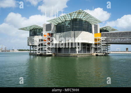 The building of Oceanario in Lisbon, Portugal - Stock Photo
