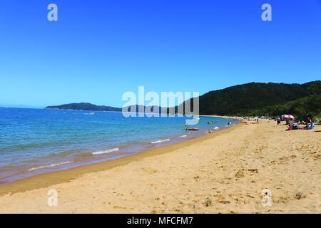 Totaranui Beach, Abel Tasman National Park, South Island, New Zealand - Stock Photo