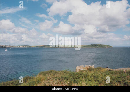 Real Photo View From St Mawes Castle, Cornwall - Stock Photo