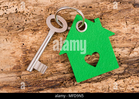 model house and home key - Stock Photo