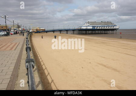 Cleethorpes old victorian pier - Stock Photo