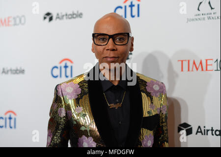 New York, USA. 24th Apr, 2018. Rupaul attends the 2018 Time 100 Gala at Jazz at Lincoln Center on April 24, 2018 in New York City. Credit: Erik Pendzich/Alamy Live News - Stock Photo