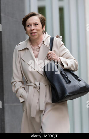 London, UK. 25th April 2018. Fran Unsworth, Head of BBC News arrives at the Rolls Building of the High Court in London where Sir Cliff Richard is claiming damages against the BBC for loss of earnings. Credit: TPNews/Alamy Live News - Stock Photo