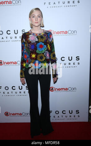 Las Vegas, NV, USA. 25th Apr, 2018. 25 April 2018 - Las Vegas, NV - Saoirse Ronan. 2018 CinemaCon Focus Features Presentation at Caesars Palace. Photo Credit: MJT/AdMedia Credit: Mjt/AdMedia/ZUMA Wire/Alamy Live News - Stock Photo