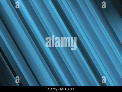 Abstract Vector Background With Blue Transparent Lines - Stock Photo
