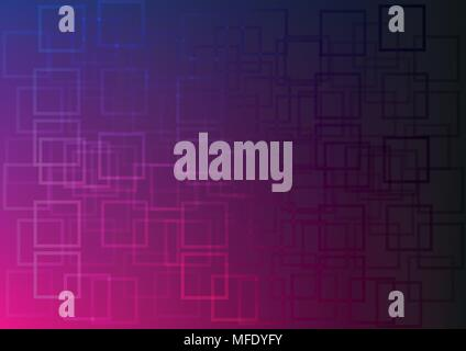 Abstract Vector Purple Gradient With Squares Background - Stock Photo