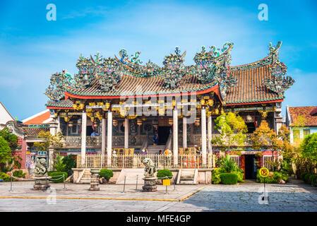Leong San Tong Khoo Kongsi, Chinese Clan House, Temple, George Town, Penang, Malaysia - Stock Photo