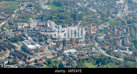 An aerial view, of Ripon, North Yorkshire, Northern England, UK