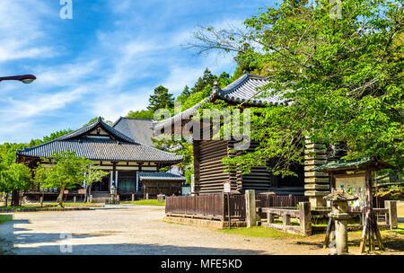 Hokke-do hall of Todai-ji temple in Nara - Stock Photo