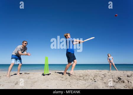 Beach Cricket on a beautiful Beach in Australia.