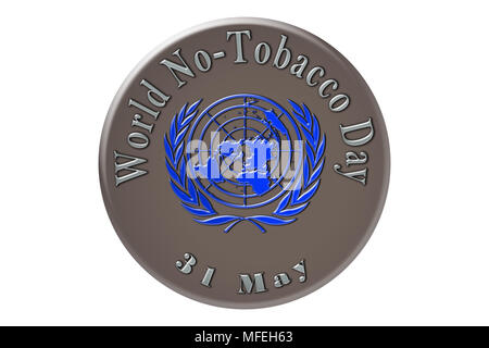 World No-Tobacco Day, the international holiday of the United Nations, is celebrated on 31 May. - Stock Photo