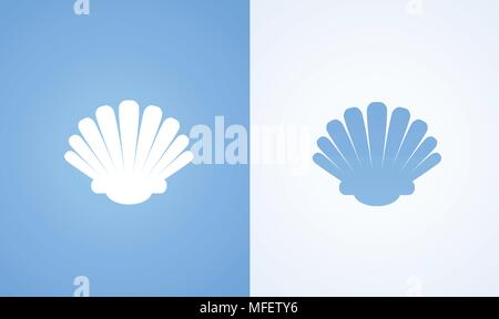 Icon of Seashell - Stock Photo