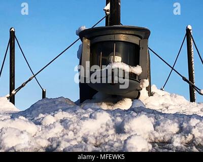 Stern lantern on the submarine - Stock Photo