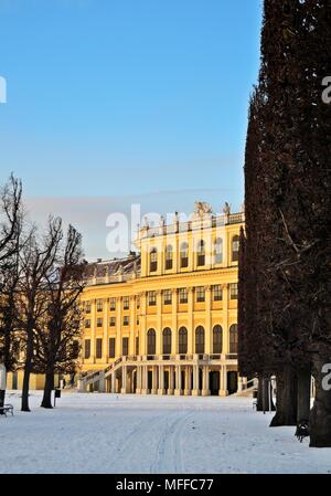 Schönbrunn palace in winter - Stock Photo