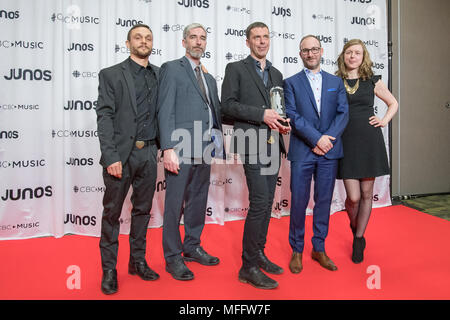 JUNO Gala Dinner and Awards in Vancouver, BC. Canada  Featuring: Do Make Say Think Where: Vancouver, Canada When: 25 Mar 2018 Credit: Lu Chau/WENN.com - Stock Photo
