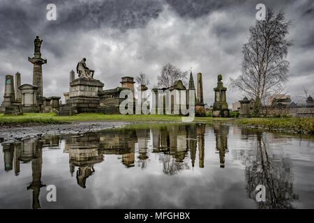 The Necropolis, Glasgow, Scotland, UK - Stock Photo